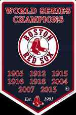 "BOSTON RED SOX SIGN 12"" X 18"" EMBOSSED METAL BANNER WORLD SERIES CHAMPIONS 2013"