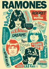 Reproduction Ramones Poster, Home Wall Art, Vintage Print