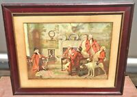 FOX HUNTING HOUNDS HUNTSMAN VICTORIAN COLONIAL TIMES PRINT CHIP OF THE OLD BLOCK