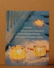 Unused Christmas Card Clouds Candles Hallmark