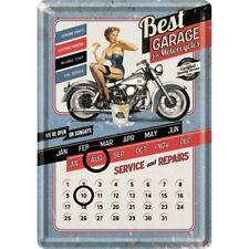 Blechschild 10234 - Best Garage For Motorcycles (Blue) Tischkalender  10 X 14 cm