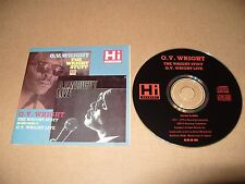 O.V. Wright The Wright Stuff/Live 20 track cd 1990 RARE
