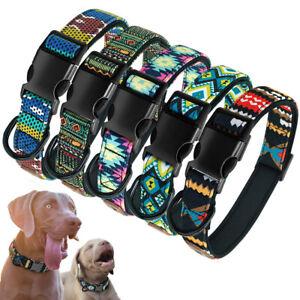 Fashion Dog Collars Soft Neoprene Padded Heavy Buckle for Yorkie Labrador S M L