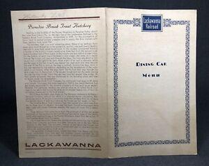 Lackawanna Railway Railroad MENU Dining Car RR Paper Ephemera Collectible