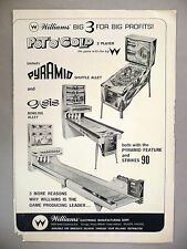 Pot 'O' Gold Pinball Machine Game PRINT AD - 1965 ~~Shuffle Alley, Oasis Bowling