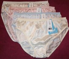 4 Pair Pastel 100% Nylon BIKINI PANTIES Size 7 USA Made