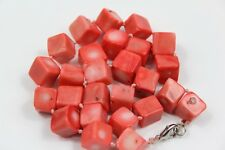 ANTIQUE NATURAL RED CORAL BEADS NECKLACE 67g