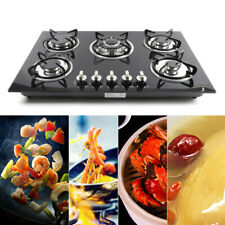 """New listing 30""""/23.3"""" Lpg/Ng Gas Cooktop Built-in 5Burner Stove Hob Cooktop tempered glass"""