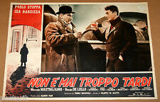 fotobusta film NON E' MAI TROPPO TARDI Paolo Stoppa Giorgio De Lullo 1953