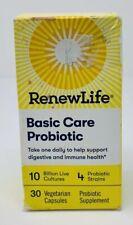 RenewLife Basic Care Probiotic 30 Vegetarian Capsules 10 BIllion Cultures
