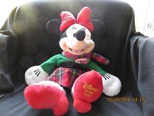 "Minnie Mouse Disney Store Christmas Plush Large 17"" Stuffed Doll"