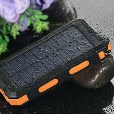 Solar Power Bank 900000mAh Portable Dual USB External Battery Charger For Phone