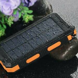 Solar Power Bank 900000mAh Portable Dual USB External Battery Charger For Phone`
