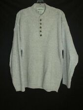 Eddie Bauer Oatmeal Knit Cotton Button Pullover Sweater Men's MED. USA T5
