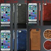 Luxury PU Leather Skin With Card Holder Back Cover Case For Apple iPhone 6S