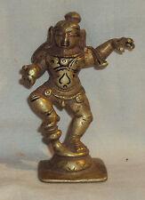 Antique Traditional Indian Bronze Statue God KrishnaDancing Rare #2