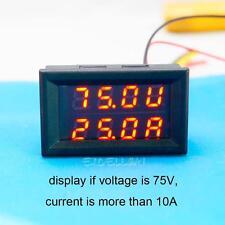 DC 100A 100V Red LED Digital Ammeter Voltmeter LCD Panel Amp Volt Current Meter