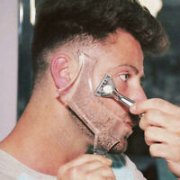 Men Beard Shaping Tool Styling Comb Template Shaving Shape Lines Hair Guide GA