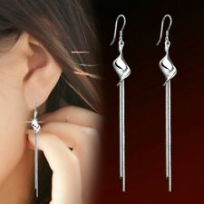 Womens Earrings Long Tassel Dangle Silver Drop Hook Fashion Jewellery Stud Gift