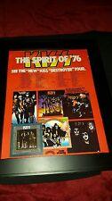 KISS The Spirit Of 76 Destroyer Tour Rare Original Promo Poster Ad Framed!