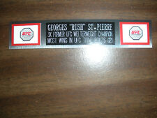 "GEORGES ""RUSH"" ST-PIERRE (UFC) NAMEPLATE FOR SIGNED TRUNKS DISPLAY/PHOTO/PLAQUE"