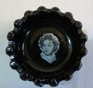 Westmoreland Lacy Daisy Ebony Black Glass Shirly Temple Salt Cellar