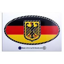 Germany flag Bundesadler Carbon fiber car country sign Laminated Decal Sticker