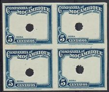 MOZAMBIQUE COMPANY 1935 AIRMAIL 5C IMPERF PROOF FRAME ONLY BLOCK MNH **