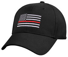 Firefighter EMS Medic Hat Baseball Cap Ballcap US Flag Thin Red Line Rothco 9896