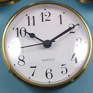MEGA-QUARTZ 85mm BEZEL Quartz Clock  insert movement  White Arabic dial