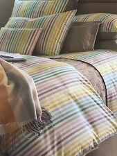 """NWT NEW Yves Delorme Cote Cote Multi stripe UK Queen Duvet Cover 94x87"""""""
