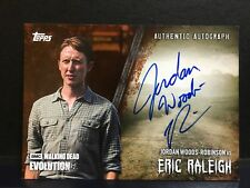 The Walking Dead Evolution Eric Raleigh A-JW Autograph Card  BROWN 49/99 TOPPS