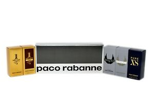 PACO RABANNE 5 PIECE SPECIAL TRAVEL EDITION MINIATURES WITH 1 MILLION 5ML NIB