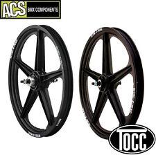 "BMX Wheel Set (F&R) A.C.S. Z-Mag 3/8"" Axle (Black) Old School Mid School"