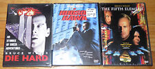 3 Bruce Willis DVD's: Hudson Hawk-Die Hard-The Fifth Element SciFi Action Comedy