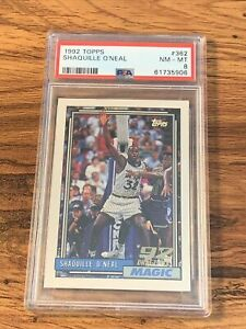Shaquille Oneal 1992 Topps RC #362 PSA 8 NM-MT HOF Lakers Magic