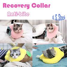 Pet Anti-bite Recovery Collar Peach Heart Lemon Soft Neck Cone For Dog Cat Us