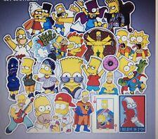 Bulk Lot of 10 Stickers The Simpsons - Cartoon, Waterproof, Decal, PVC, Kids