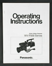 PANASONIC WV-F500 COLOR VIDEO CAMERA INSTRUCTIONS MANUAL