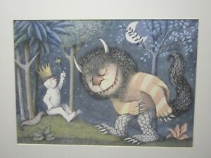 """WHERE THE WILD THINGS ARE  PICTURE/PRINT/POSTER MATTED 24 X 18"""""""