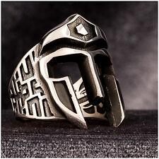 Turkish Men's Ring Spartan Helmet Handmade 925K Silver A306