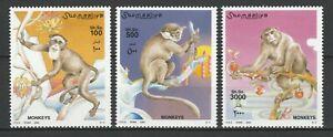 Somalia 2002 Fauna, Animals, Monkeys 3 MNH stamps