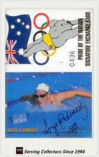 1996 Dynamic OLYMPIC Cards Redemption C + ANGELA KENNEDY Signature Card