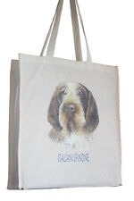 More details for italian spinone dog h cotton shopping tote bag long handles perfect gift
