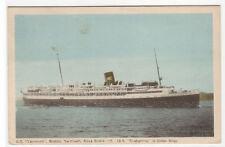 Steamer SS Yarmouth Nova Scotia Canada 1950 postcard
