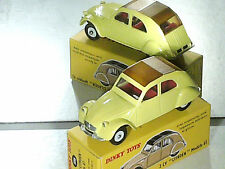 CITROEN 2CV 1961/1965 DINKY TOYS REEDITION ATLAS / JAUNE