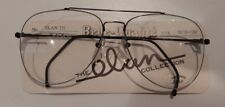 Vintage Elan 775 Black 58/18 Double Br Aviator Eyeglass Frame NOS #263