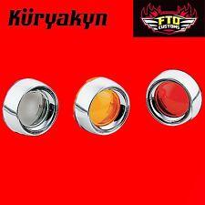 Kuryakyn Deep Dish Bezels W/ Lenses for Bullet Turn Signals '00-'17 H-D 2107