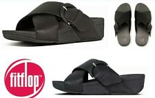 Fitflop Shoes comfort slip on leather foot bed slide sandals Lulu Buckle Slide