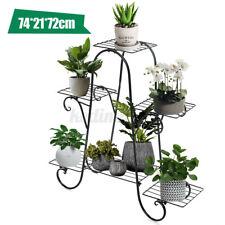 6-Tier Metal Flower Pot Plant Stand Balcony Floor-standing Multilayer Shelf